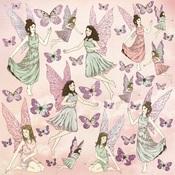 Flutterby Glittered Paper - Fairy Garden - KaiserCraft