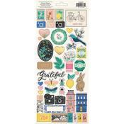 Rose & Gold Foil 6 x 12 Flourish Stickers - Maggie Holmes