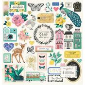 Flourish Chipboard Stickers - Maggie Holmes