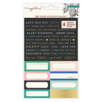 Gold & Rose Gold Foil Cardstock Stickers - Flourish - Maggie Holmes