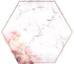 Hexagon Die-cut Paper - Misty Mountains - KaiserCraft