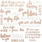 Be You Quotes Foiled Paper - Misty Mountains - KaiserCraft