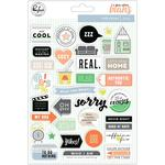 """Puffy Stickers 6""""X8"""" - A Case Of The Blahs - Pinkfresh"""