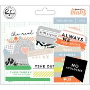 Fabric Die-Cuts 12/Pkg - A Case Of The Blahs - Pinkfresh