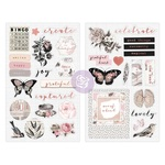 Amelia Rose Chipboard Stickers - Prima