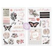 Amelia Rose Chipboard Stickers - Prima