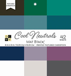 "Cool Neutrals Solid - DCWV Single-Sided Cardstock Stack 6""X6"" 42/Pkg"