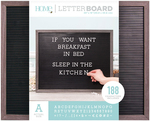 """Gray Stained W/Black Insert - DCWV Framed Letterboard 20""""X16"""""""