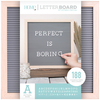 """Natural W/Gray Insert - DCWV Framed Letterboard 12""""X12"""""""