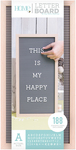 "Natural W/Gray Insert - DCWV Framed Letterboard 10""X20"""