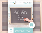 """Natural W/Gray Insert - DCWV Framed Letterboard 20""""X16"""""""