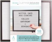 """Black W/White Insert - DCWV Framed Letterboard 20""""X16"""""""