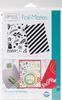 "Ornamental Holiday - Gina K Designs Foil-Mates Background 5.5""X8.5"" 10/Pkg"
