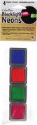 Set 1-Sailing, Apple, Spring, Pizzazz - ColorBox Blacklight Neon Cube 4/Pkg