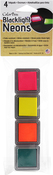 Set 2-Hot Pink, Sunny, Blazing, Jade - ColorBox Blacklight Neon Cube 4/Pkg