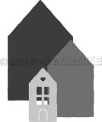 "Houses No. 1., 1.3""X2.1"", 1""X1.6"" - Alexandra Renke Die"