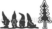Gnome Line W/Fir Tree - Alexandra Renke Die
