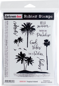 "Tropical Island - Darkroom Door Cling Stamps 7""X5"""
