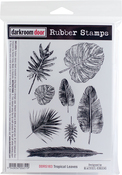"Tropical Leaves - Darkroom Door Cling Stamps 7""X5"""