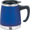 Blue - Umbria Desk Mug 15oz Keep your hot drinks hot at your desk! Wide base mug is double walled to keep drinks hot or cold longer. Do not use in microwave, hand wash. Package contains one desk mug. Imported.