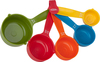 Assorted Colors - Measuring Cups Set Of 5 Perfect for all of your baking needs! This package contains five measuring cups in assorted colors (1/8c, 1/4c, 1/3c, 1/2c and 1c). Dishwasher safe. Imported.