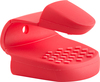 Red - Pinch Grip Ideal for handling hot plates. This grip is textured, for a secure, non-slip grip thumb and finger protection. This 3.15x5x2 inch package contains one pinch grip. Resistant up to 428 degrees Fahrenheit. Dishwasher safe. Imported.