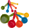 Cups & Spoons - Measuring Set 10pcs Carded Easy to use and store 10 piece measuring cups and spoons. This package contains five measuring spoons (1/4 tsp, 1/2 tsp, 1 tsp, 1/2 tbsp and 1 tbsp) and five measuring cups (1/8c, 1/4c, 1/3c, 1/2c and 1 cup). Dishwasher safe. Imported.