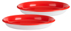Red & White - My Set Of 2 Plates 8.25  Dinnerware For Kids The perfect plate set for any kid! This package contains two 8.25 inch plates. BPA free. Dishwasher and microwave safe. Recommended for ages 3 and up. Imported.