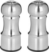 "Silver - Empty - Stainless Steel Salt & Pepper Set 4.5"""