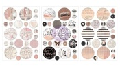 Amelia Rose Circle Foil Stickers - Prima