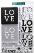 "Love You So - Concord & 9th Clear Stamps 6""X8"""