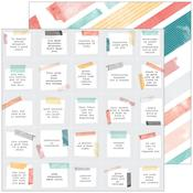 """Thought - Let Your Heart Decide Double-Sided Cardstock 12""""X12""""  - Pinkfresh"""
