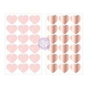 Love Story Heart Stickers - Prima
