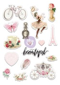 Love Story Puffy Stickers - Prima