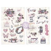 Lavender Chipboard Stickers - Prima