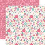 Fancy Floral Paper - Imagine That Girl - Echo Park