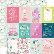 3 x 4 Journaling Cards Paper - Imagine That Girl - Echo Park - PRE ORDER