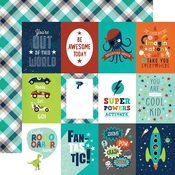 3 x 4 Journaling Cards Paper - Imagine That Boy - Echo Park - PRE ORDER