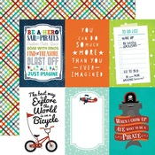 4 x 6 Journaling Cards Paper - Imagine That Boy - Echo Park