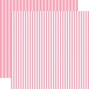 Raspberry Stripe Paper - Spring 2018 Dots & Stripes - Echo Park