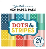 Summer 2018 Dots & Stripes 6 x 6 Paper Pad - Echo Park