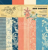 Sun Kissed Patterns & Solids 12 x 12 Paper Pad - Graphic 45 - PRE ORDER
