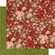 Burgundy Blossoms Paper - Floral Shoppe - Graphic 45