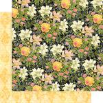 Indigo Lilies Paper - Floral Shoppe - Graphic 45