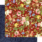 Scarlet Serenity Paper - Floral Shoppe - Graphic 45