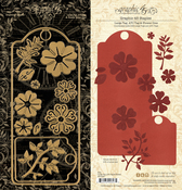 Large Tag ATC Tag and Flower Dies - Graphic 45