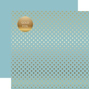 Bluebell Gold Foil Dot Paper - Spring Gold Foil 2018 - Echo Park