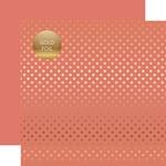 Peony Gold Foil Dot Paper - Spring Gold Foil 2018 - Echo Park