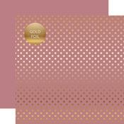Mauve Gold Foil Dot Paper - Spring Gold Foil 2018 - Echo Park