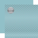 Bluebell Silver Foil Dot Paper - Spring Silver Foil 2018 - Echo Paper
